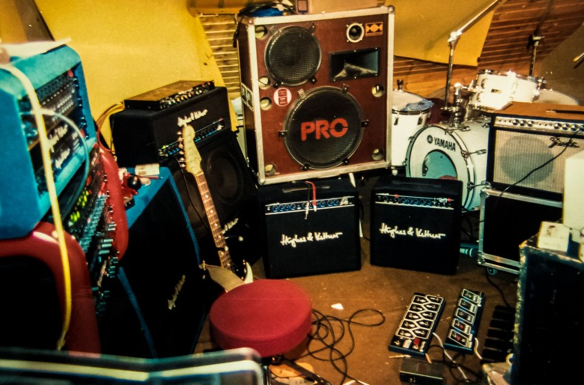 An oldie but goodie, and an amp lover's heaven - but probably not the best place to go if you want to be concentrating on learning that all-important solo!