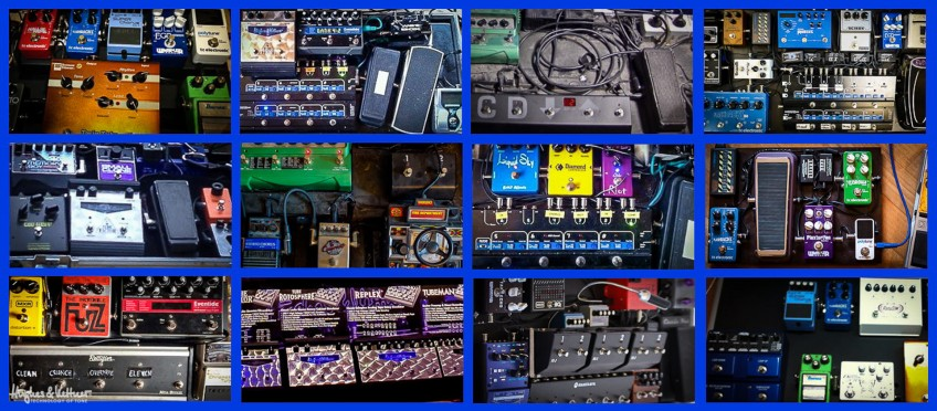 Pedalboards are like people - no two are exactly the same! As you can see from this selection shot, there's a vast amount of stompboxes to choose from, and how you set them up - and in what order - also have huge effects on your guitar tone. And that's before we even start discussing guitars and amps...