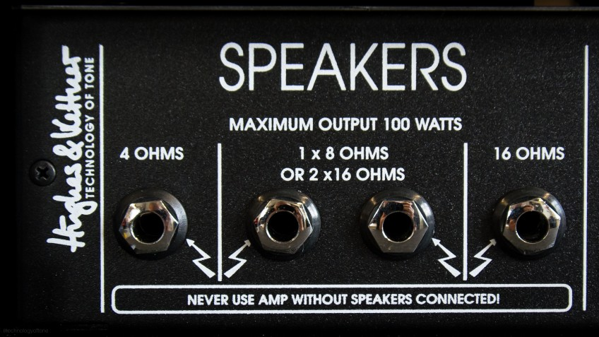 Some amps, like the one pictured, have multiple connections for speakers. This can give you more flexibility in finding a matching setup.