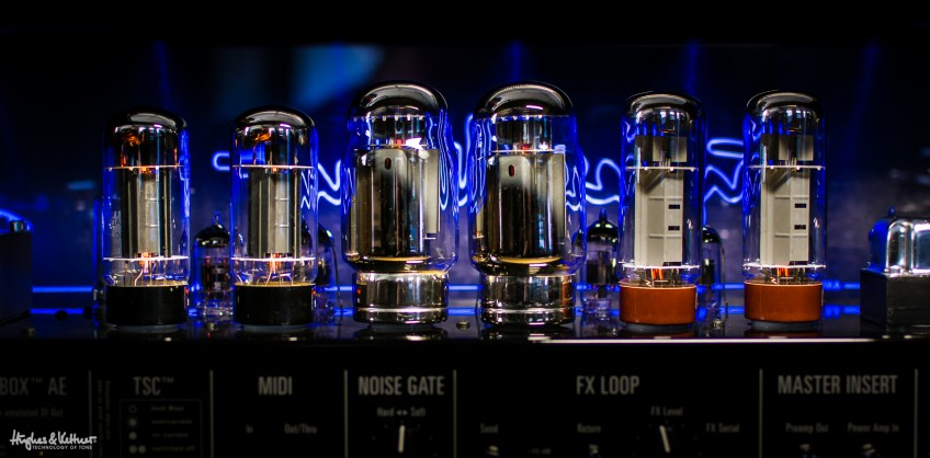 These three pairs of power tubes can make a hell of a racket when all used together, as they can be with the TriAmp Mark 3. Talk about being greater than the sum of their parts...
