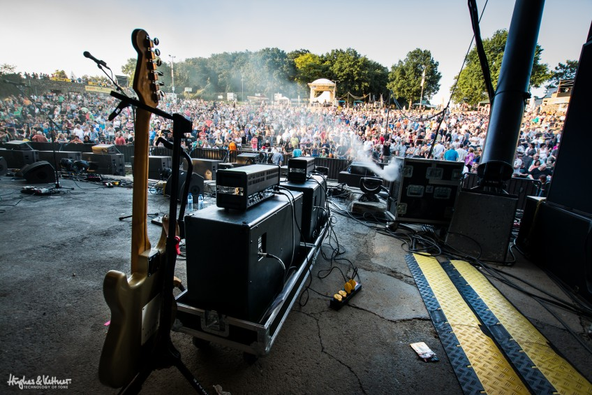 Outdoor gigs are different to indoor ones, of course, but the principles of where you place your amp can be similar.