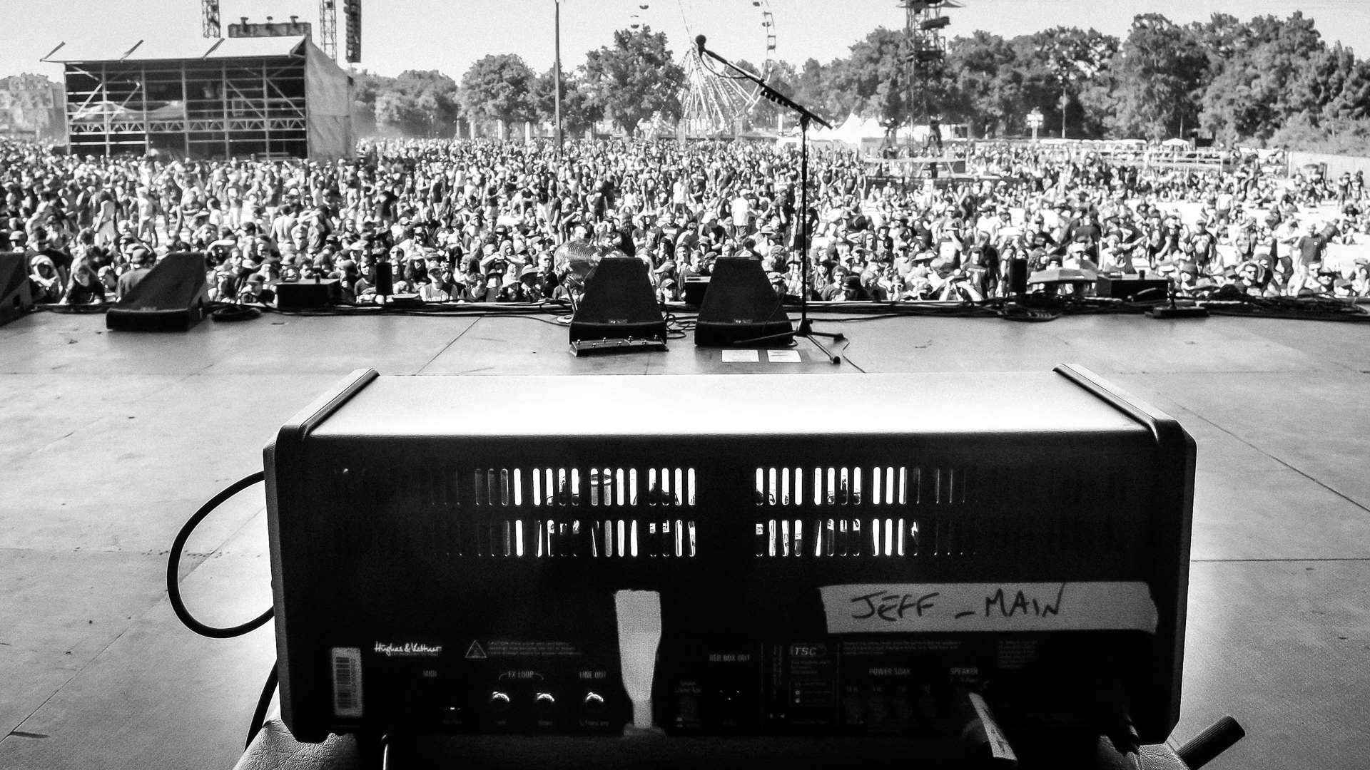 Empty outdoor rock stage - Ready To Rock The Stage At Hellfest In France This Amp S Facing The Crowd Head