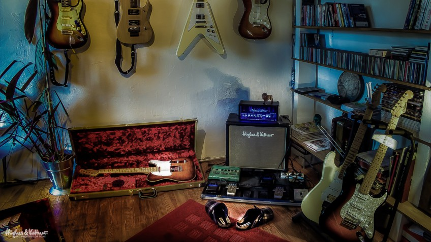 Now, this looks like a great and well-equipped practice room! But if you're stuck in a guitar rut, try something else for a while before coming back to your standard routines, and you should notice a huge difference.