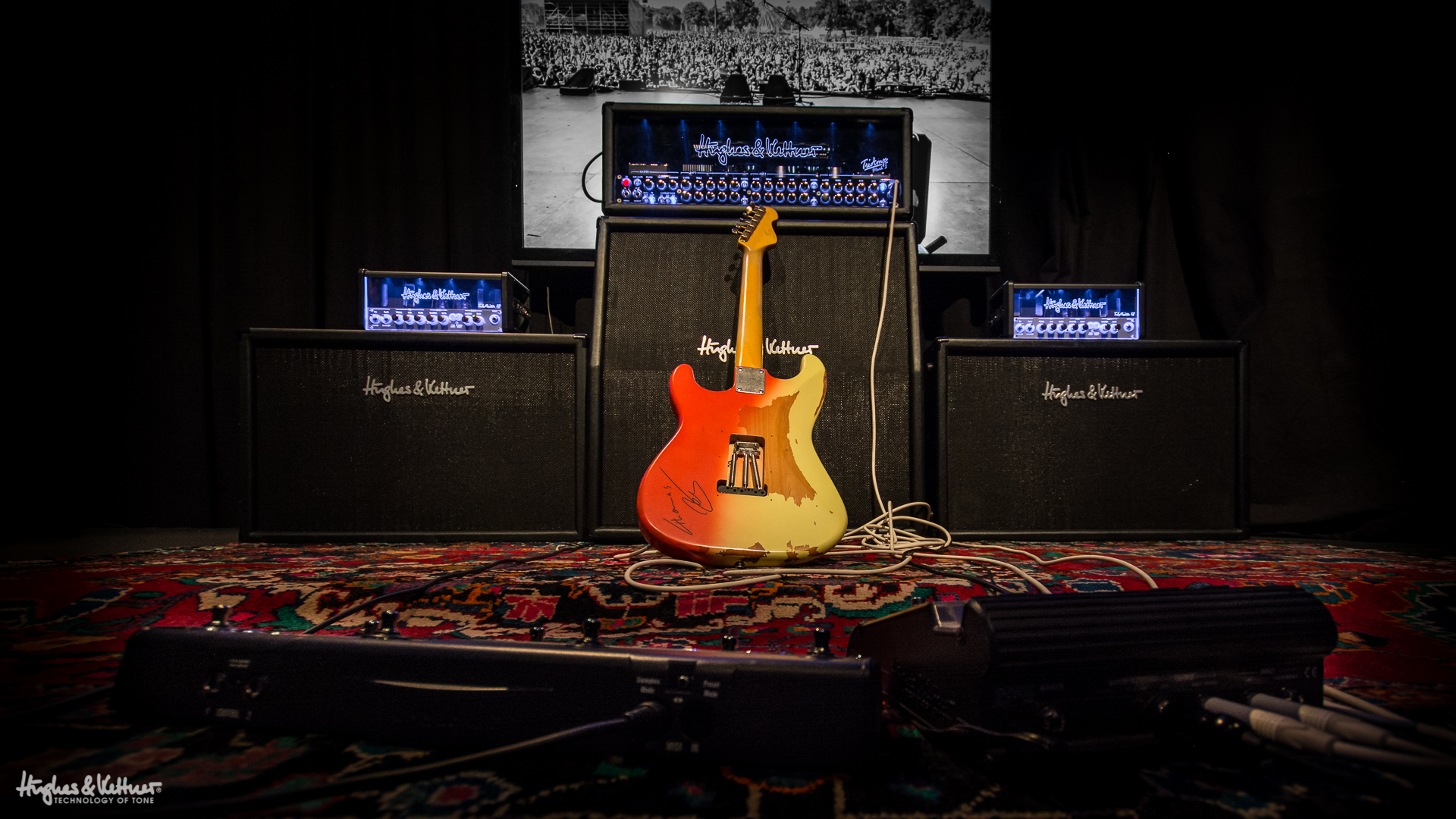 Stereo Mono And Wet Dry Amp Rigs Which Is Best Hughes Diagram Furthermore Live Sound Pa System Setup On The Kind Of Rig Many Guitarists Could Only Dream
