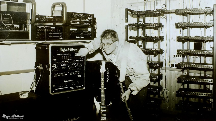 A long time ago, in a galaxy far, far away.... Even Hughes & Kettner made gear in rack format. And yes, the chap in the picture still works for the company, and yes, he's still smiling today.