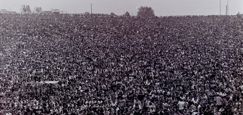 A whole load of 'musical junkies' at Woodstock. Rock 'n' roll was - and is - a true revolution for many.