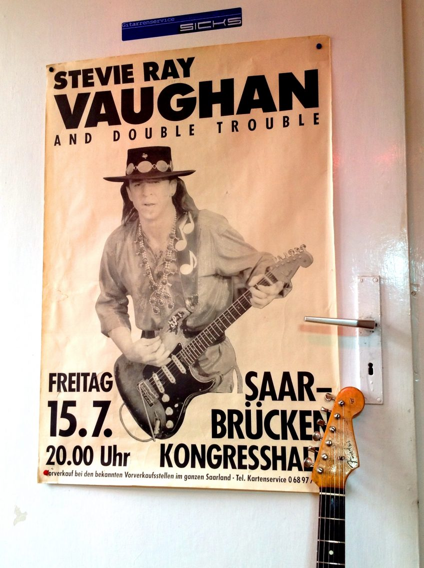 Our photographer is dating himself here - this is a genuine SRV gig poster from a Saarbrücken show he attended all those years ago...