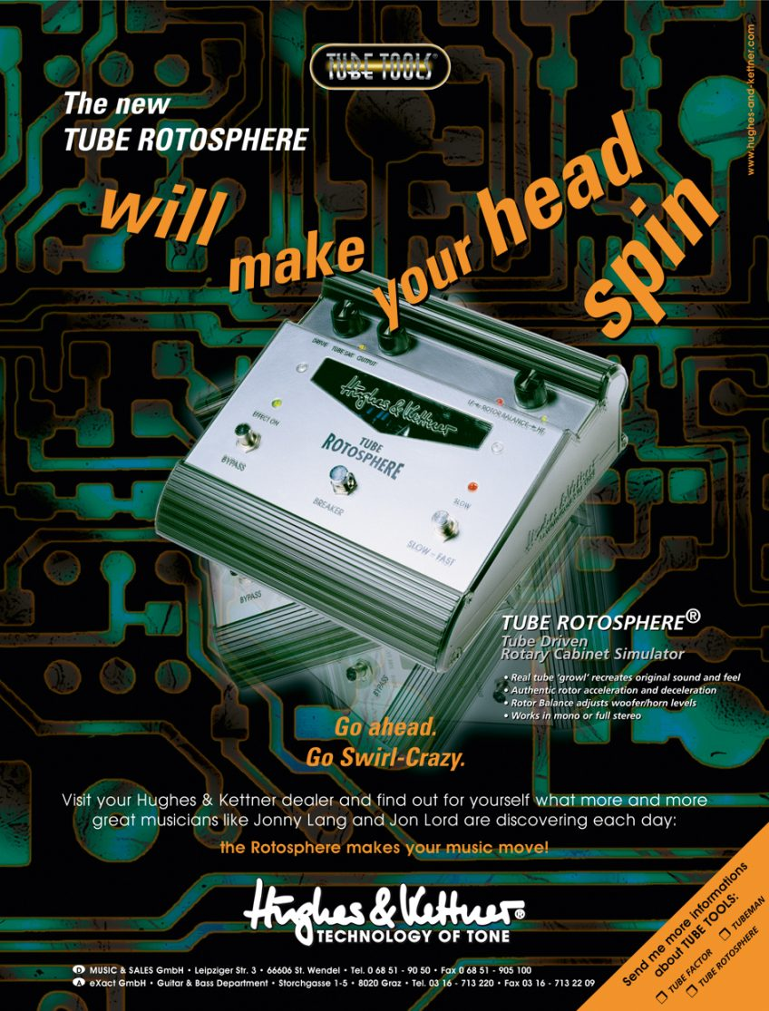 The legendary Rotosphere as featured in one of our similarly legendary 1990s advertising campaigns. Those were the days!