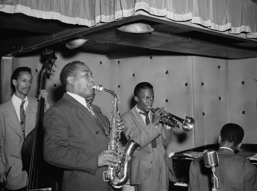 Charlie Parker on stage in the '40s (and yes, that's Miles Davis next to him on trumpet!). A leading figure in the development of bebop, Parker was a master musician and pretty much a rock star of his time. Picture: public domain.