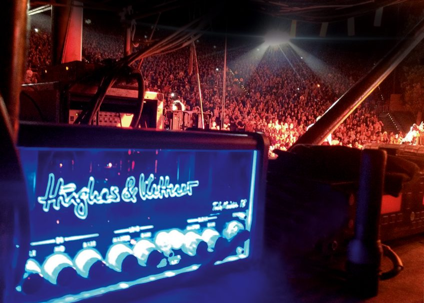 We took this from the behind the stage at a Kiss concert not that long ago. Proof that lead guitarist Tommy Thayer was able to rock a cavernous sold-out arena using the 18-watt TubeMeister 18!