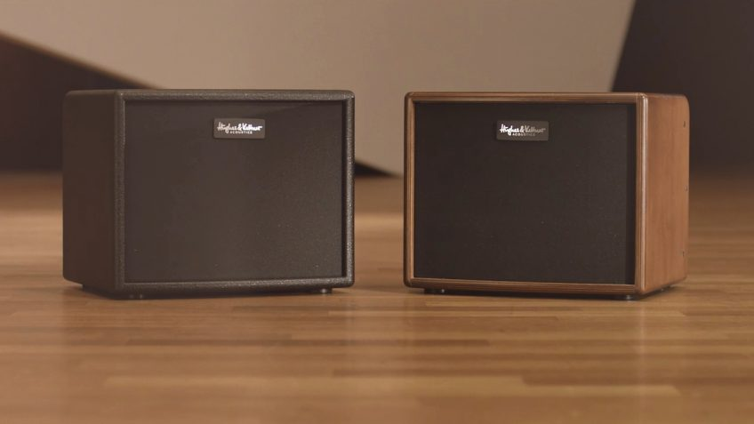 And this is it: the Hughes & Kettner era 1 in its black (left) and wood versions. Nice.