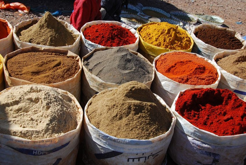 Yep, spicy! Imagine plucking the finest of these spices together to make the tastiest dish possible... the same principle is true for FX pedals and guitar sounds. Find the best ingredients that work for you, add to taste, and enjoy!   (Photo by Nasalune, used according to the CC0 Creative Commons license. Original image here: https://pixabay.com/en/spice-morocco-market-oriental-pots-1641131/)