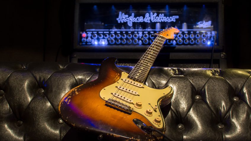 Would you take a mammoth TriAmp Mark 3 and this priceless 1958 Fender Stratocaster out on the road with you? Us neither!